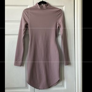 Missguided blush turtleneck bodycon dress size 4
